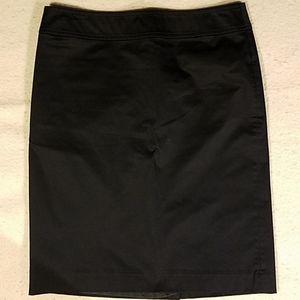 Ann Taylor LOFT Black Lined Skirt Sz 2
